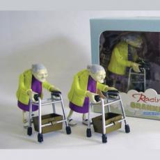 Racing Grannies Racen Met Omas Opwindbare Gadget